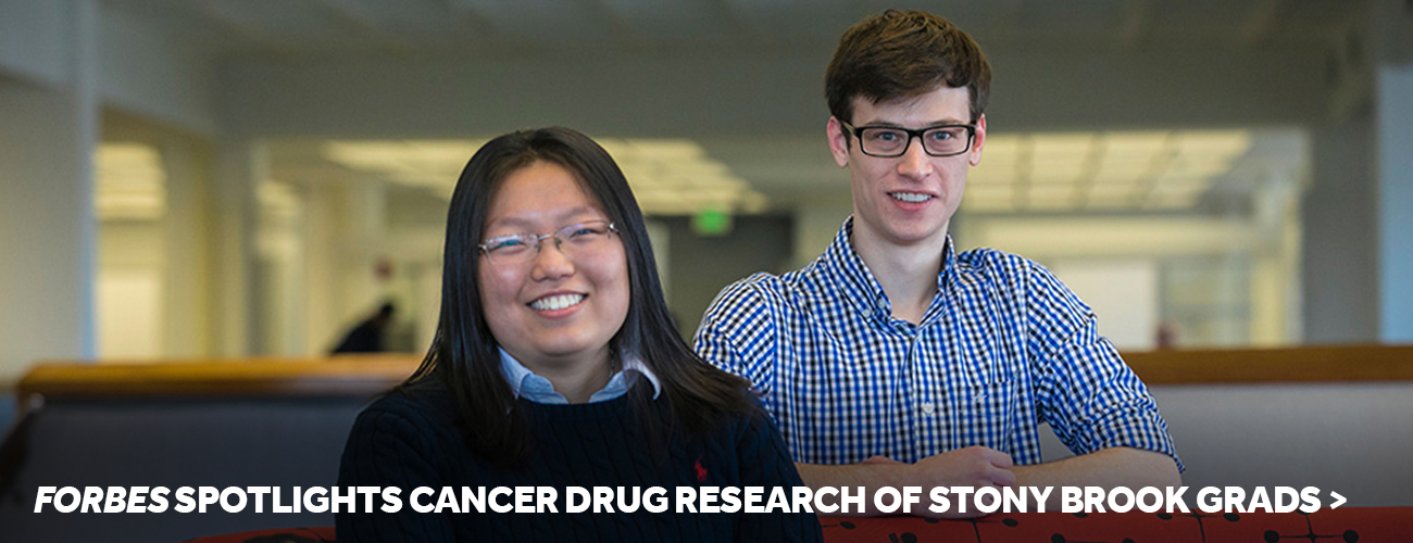Forbes Spotlights Cancer Drug Research of Stony Brook Grads