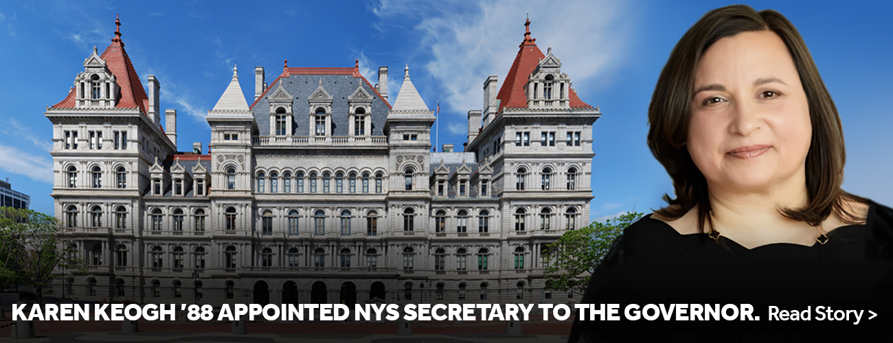 Karen Keogh '88 Appointed NYS Secretary to Governor. Read St